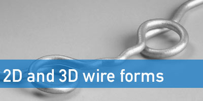 2D and 3D wire forms